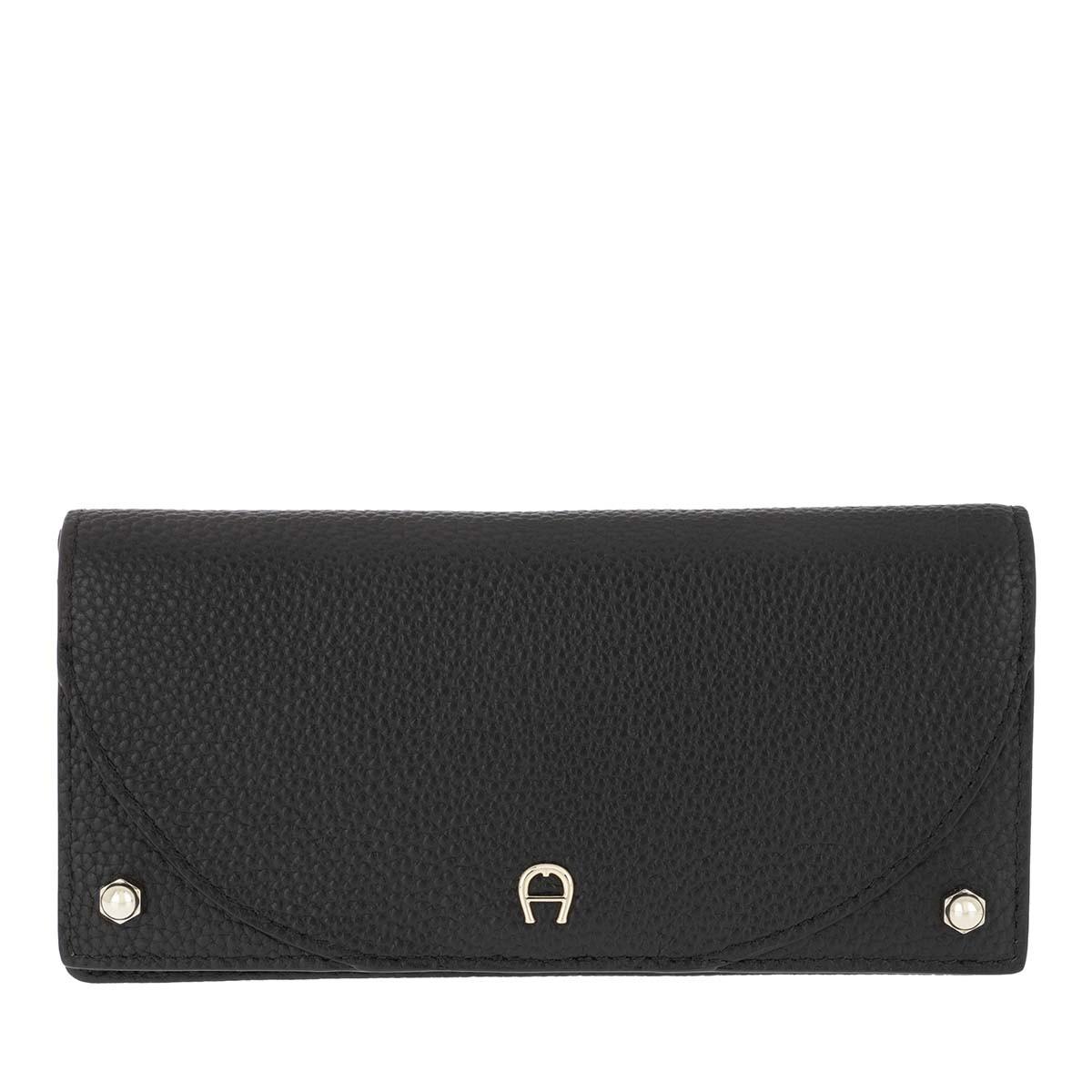 Aigner Portemonnaie - Purse Cowhide Diadora Black - in schwarz - für Damen