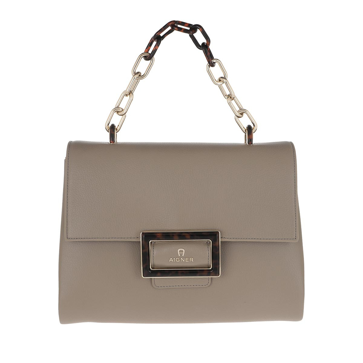 Aigner Satchel Bag - Vicenza Handle Bag Feather Grey - in beige - für Damen