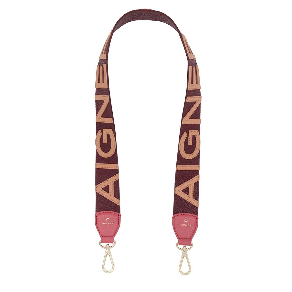 Aigner Schultergurt - Bag Strap Cowhide Burgundy - in rot - für Damen