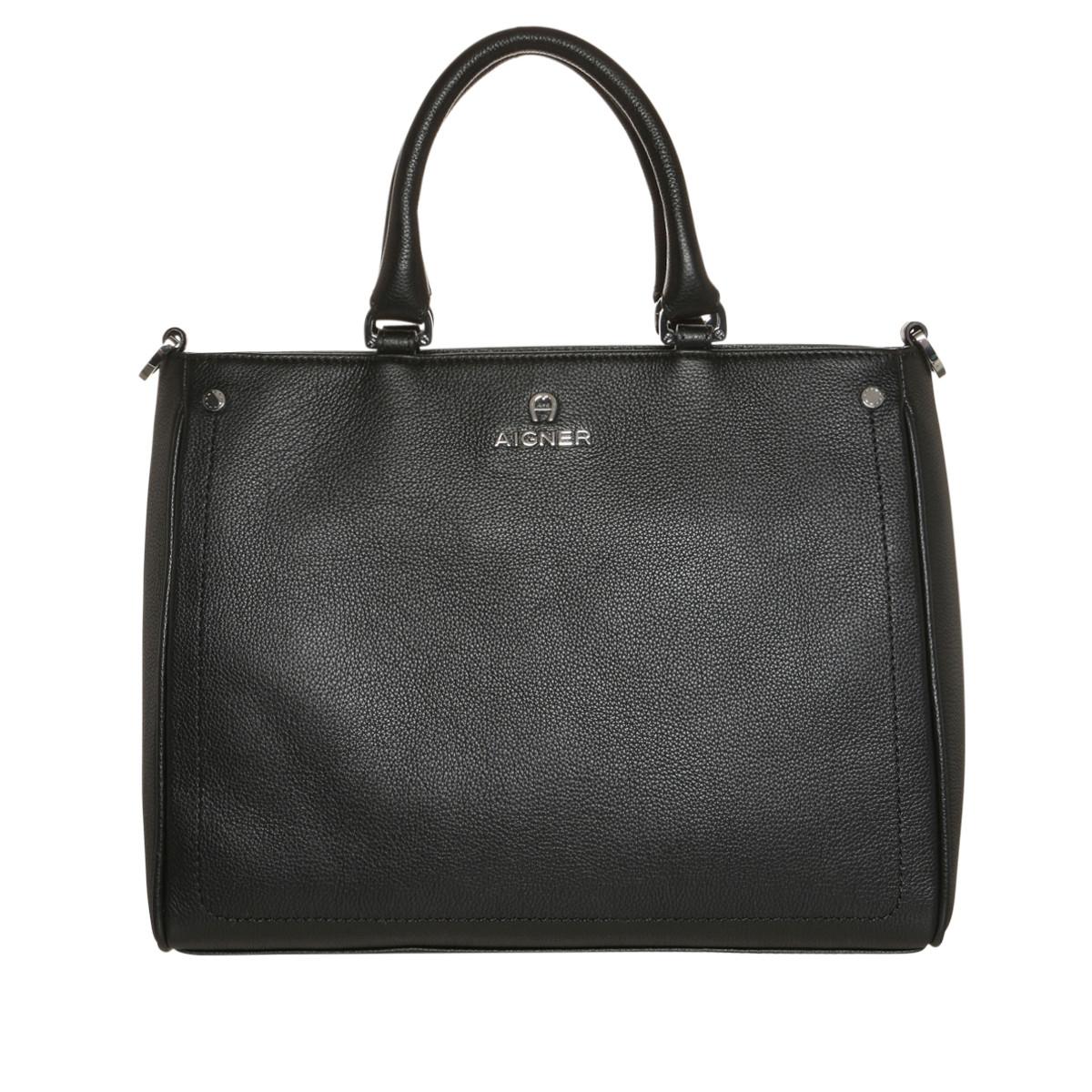 Aigner Tote - Ava Handle Bag Medium Black - in schwarz - für Damen