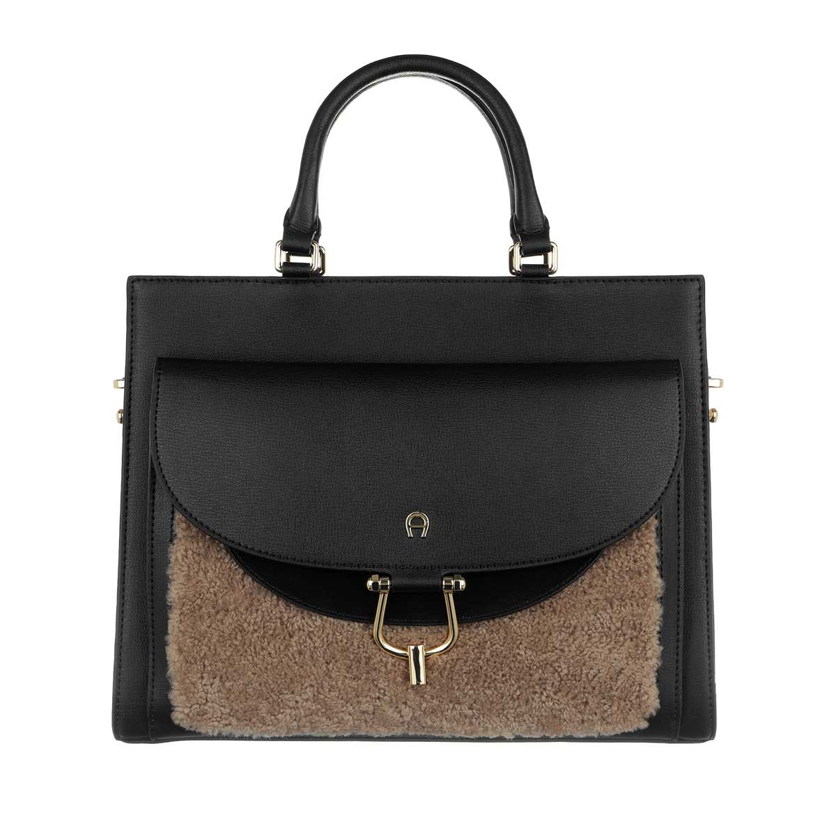 Aigner Tote - Flora Medium Handle Bag Cedar Brown - in schwarz - für Damen