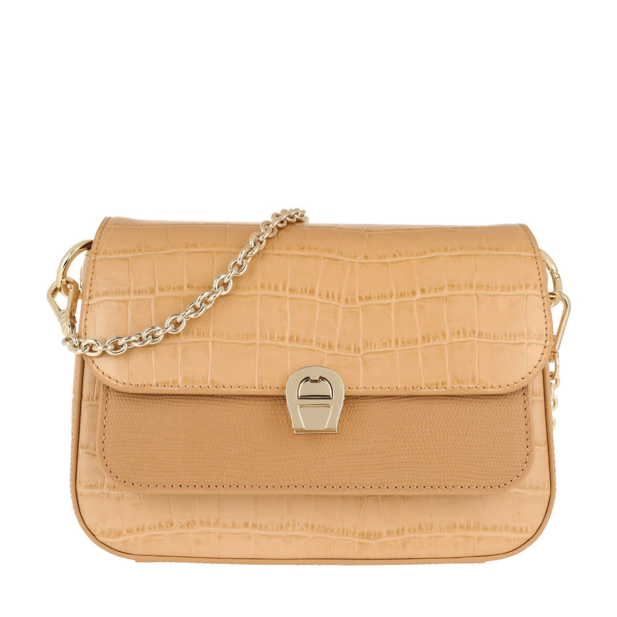 Aigner Umhängetasche - Crossbody Bag Genoveva Vacchetta Brown - in beige - für Damen