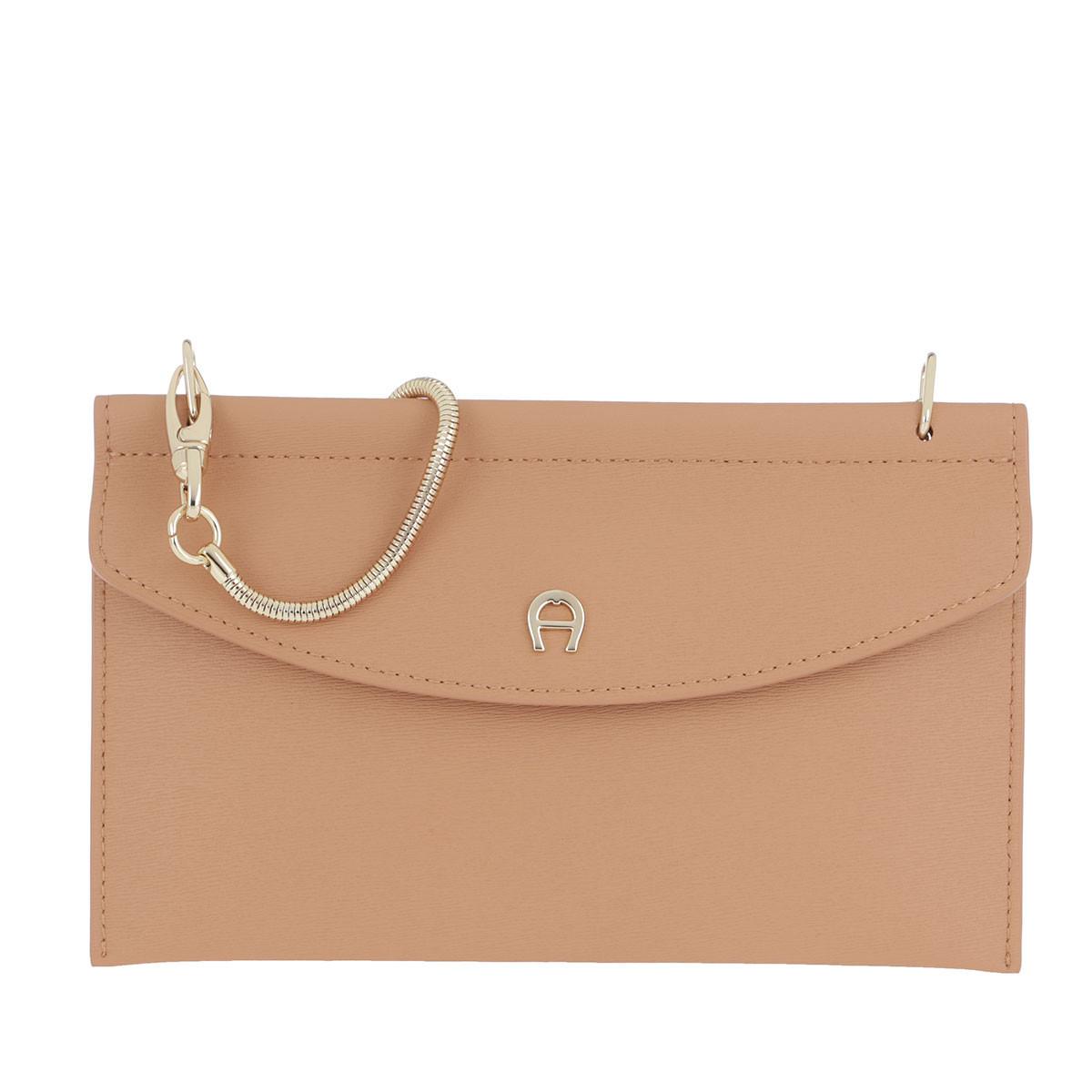 Aigner Umhängetasche - Fashion Smartphone Bag Vacchetta Brown - in beige - für Damen