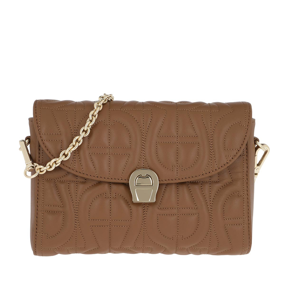 Aigner Umhängetasche - Genoveva Crossbody Dark Toffee Brown - in braun - für Damen