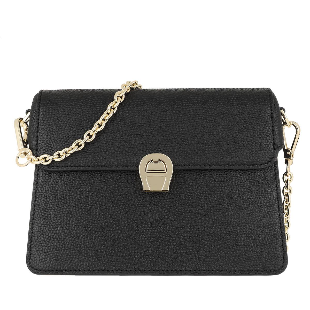 Aigner Umhängetasche - Genoveva Small Clutch Black - in schwarz - für Damen