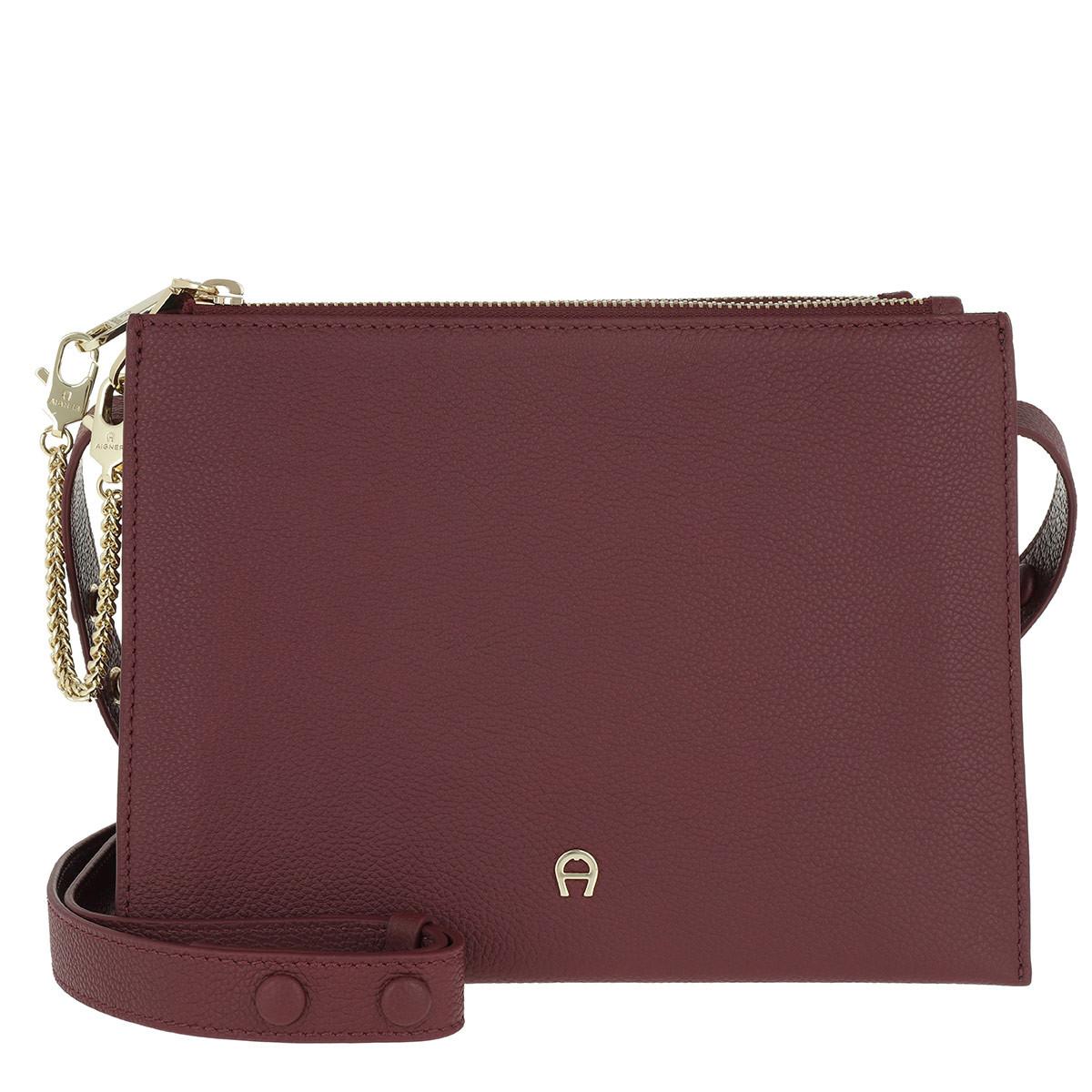 Aigner Umhängetasche - Lana S Crossbody Bag Burgundy - in rot - für Damen
