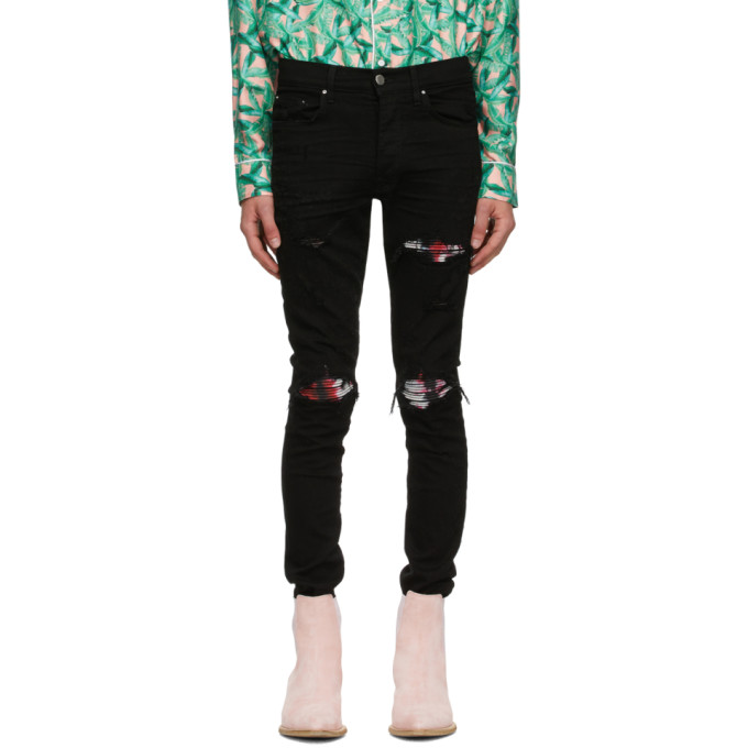 Amiri Black Watercolor MX1 Jeans