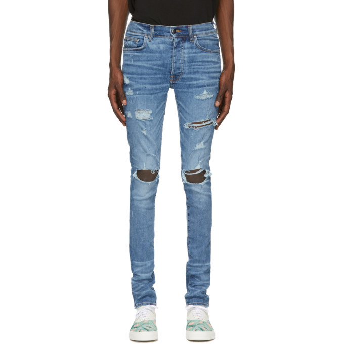 Amiri Blue Thrasher Plus Jeans