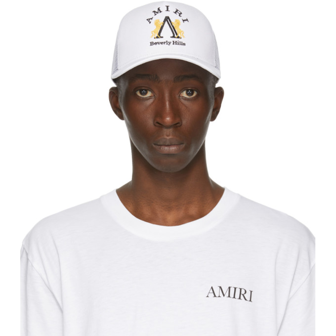 Amiri White Beverly Hills Cap