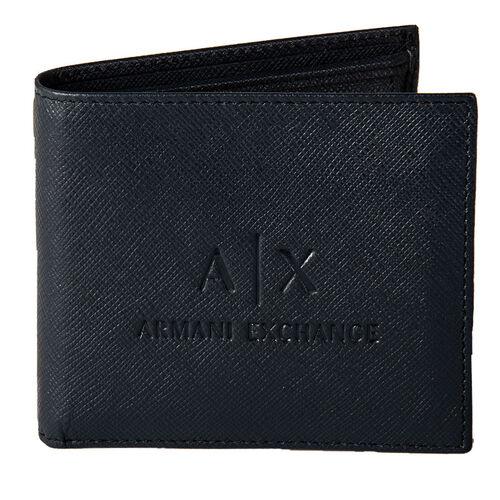 Armani Exchange Herren Geldbeutel, echtes Leder - Man Leather Wallet, Blau