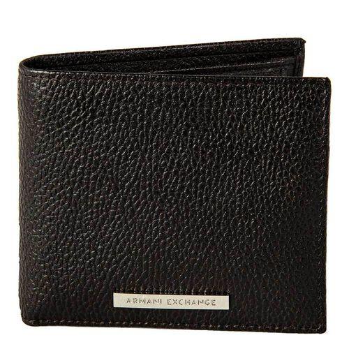 Armani Exchange Herren Geldbeutel, echtes Leder - Man Leather Wallet, Braun