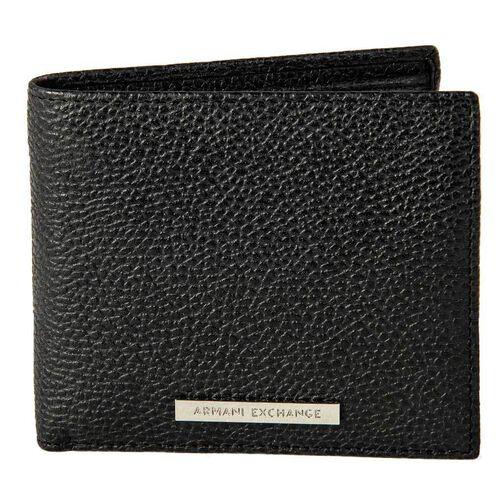 Armani Exchange Herren Geldbeutel, echtes Leder - Man Leather Wallet, Schwarz
