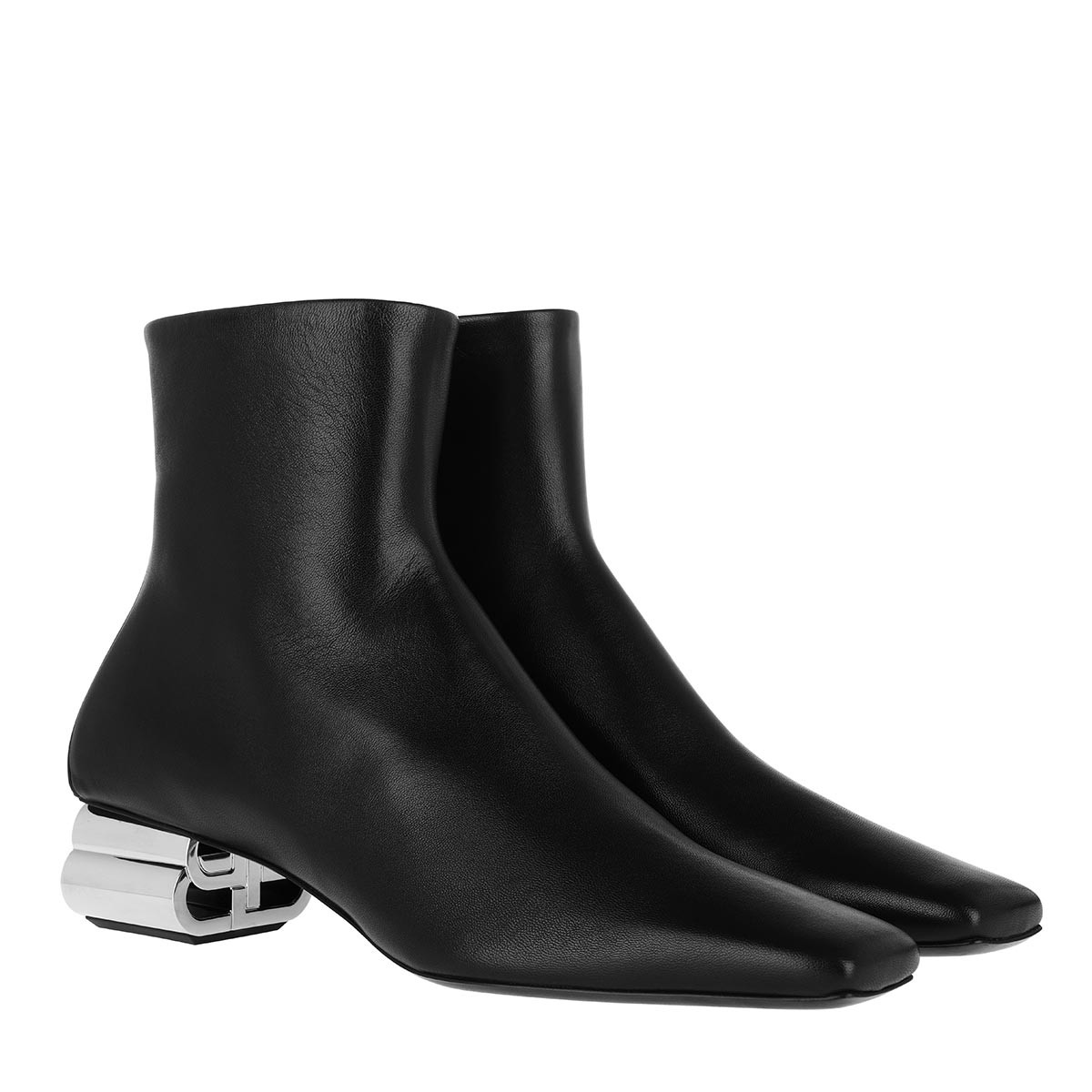 Balenciaga Boots - Ankle Boots Leather Black/Silver - in schwarz - für Damen