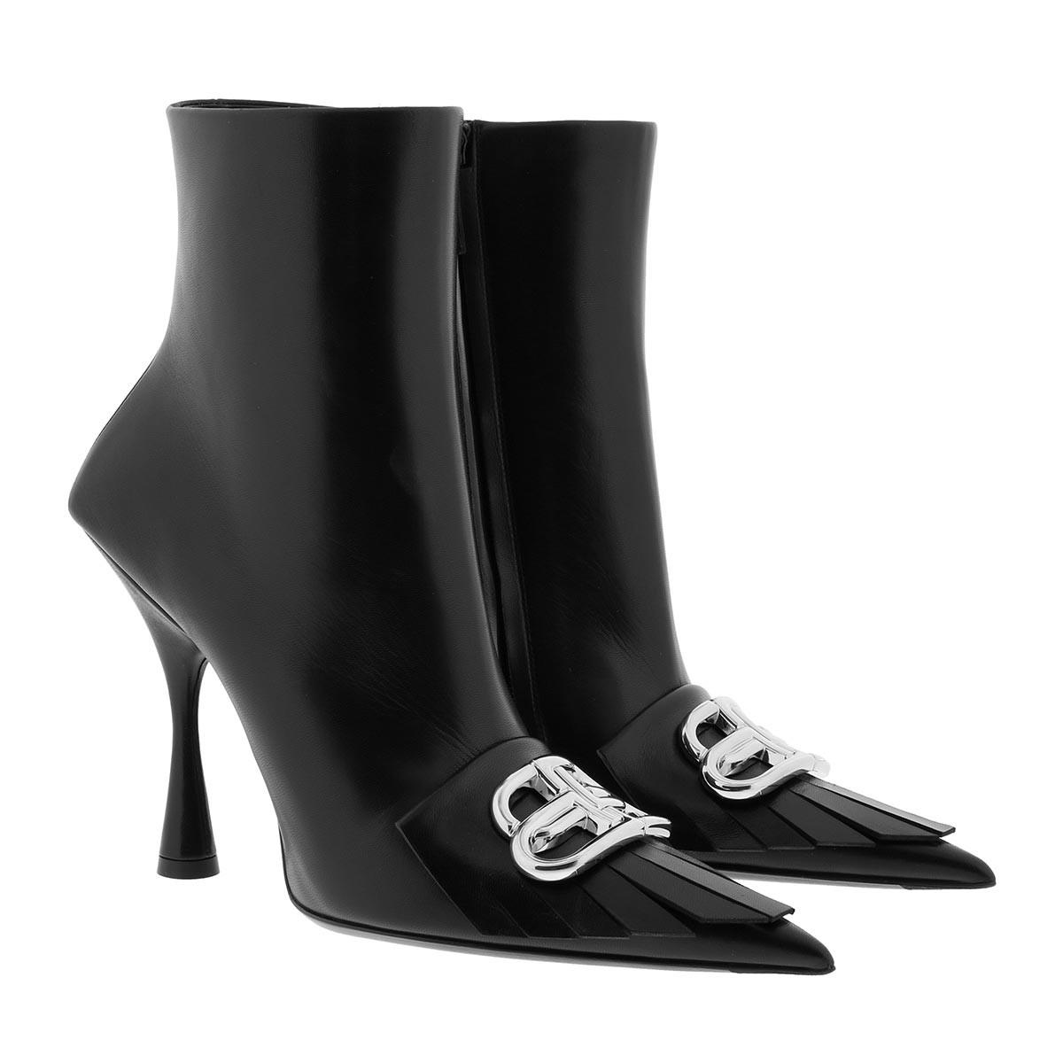 Balenciaga Boots - BB Ankle Boots Leather Black - in schwarz - für Damen