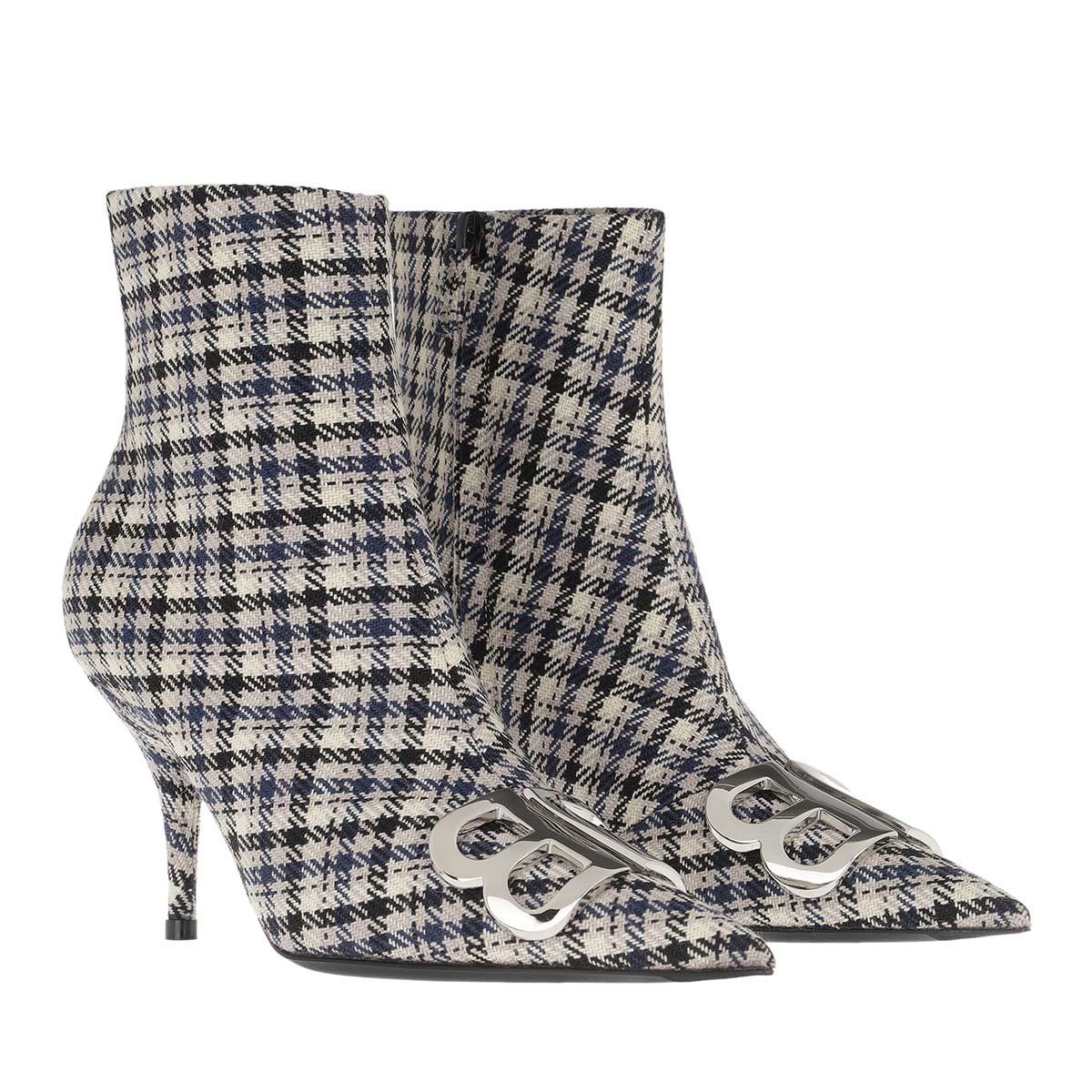 Balenciaga Boots - Heeled Ankle Boots Beige/Navy/Silver - in beige - für Damen
