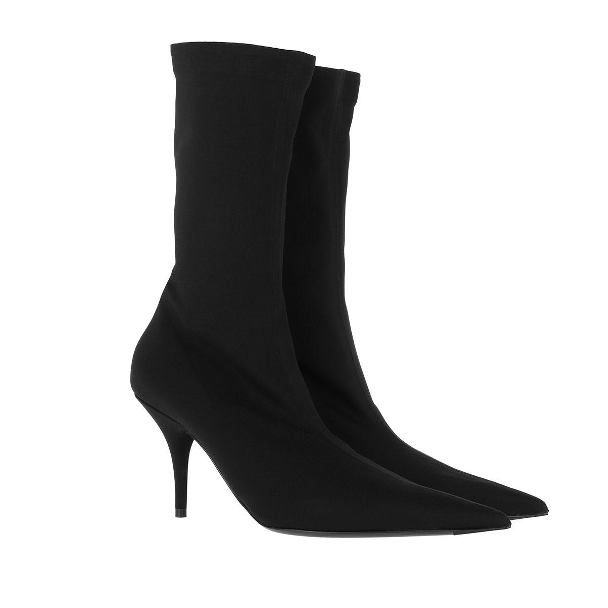 Balenciaga Boots - Jersey Crepe Ankle Boots Black - in schwarz - für Damen