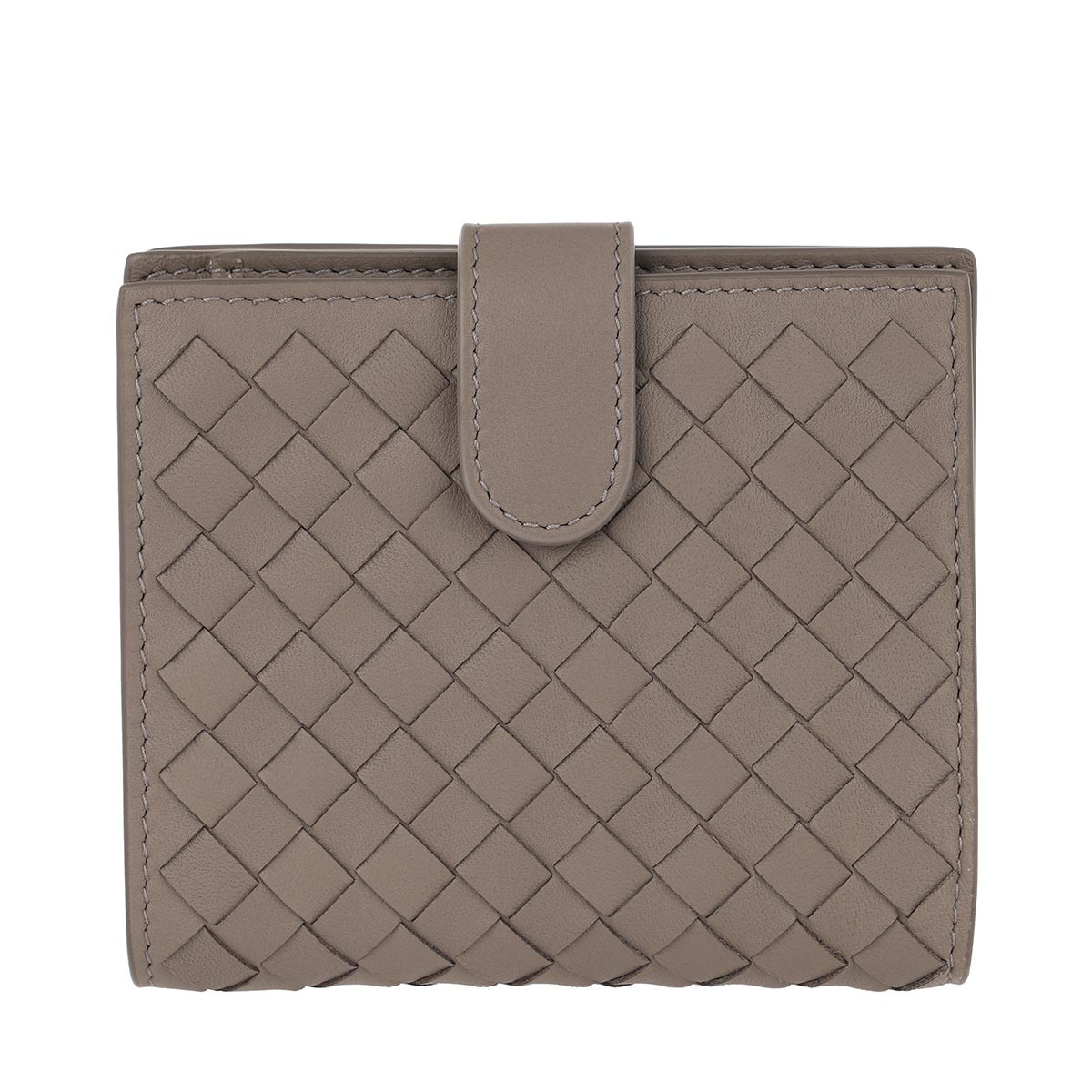 Bottega Veneta Portemonnaie - Intrecciato Mini Wallet Nappa Leather Limestone - in braun - für Damen