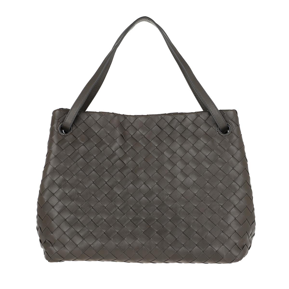 Bottega Veneta Tote - Intrecciato Tote Bag Leather Light Graphite - in grau - für Damen