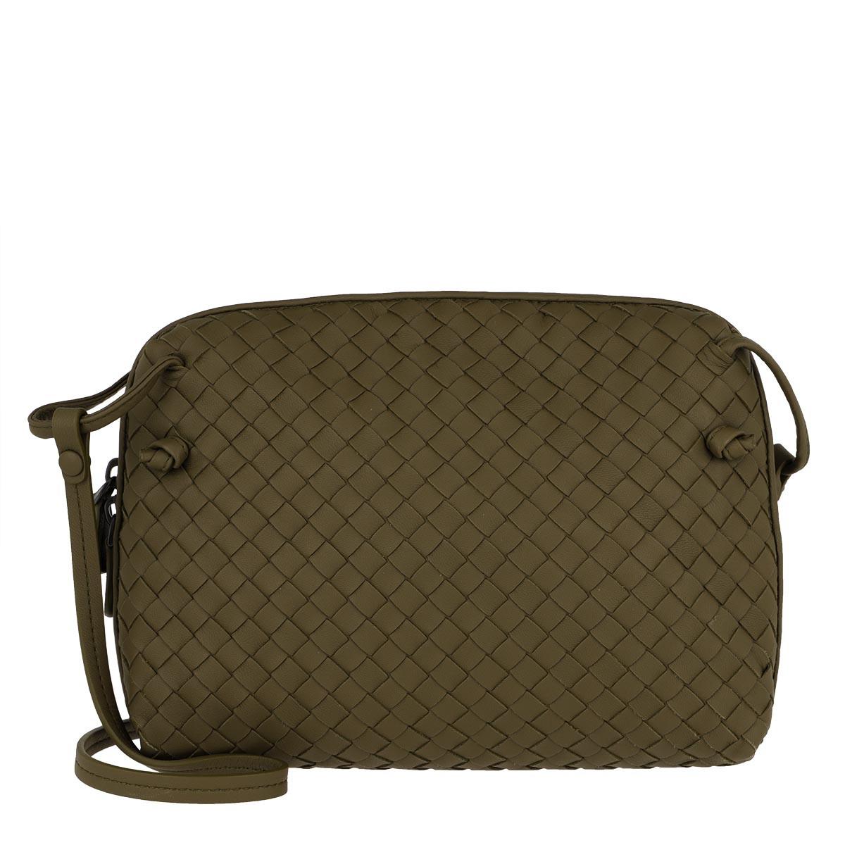 Bottega Veneta Umhängetasche - Messenger Crossbody Bag Intrecciato Mud - in grün - für Damen