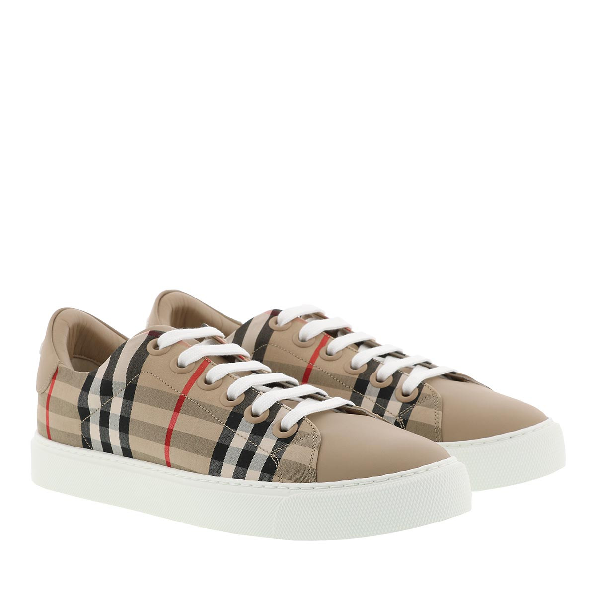 Burberry Sneakers - Checked Motif Sneaker Archive Beige - in beige - für Damen