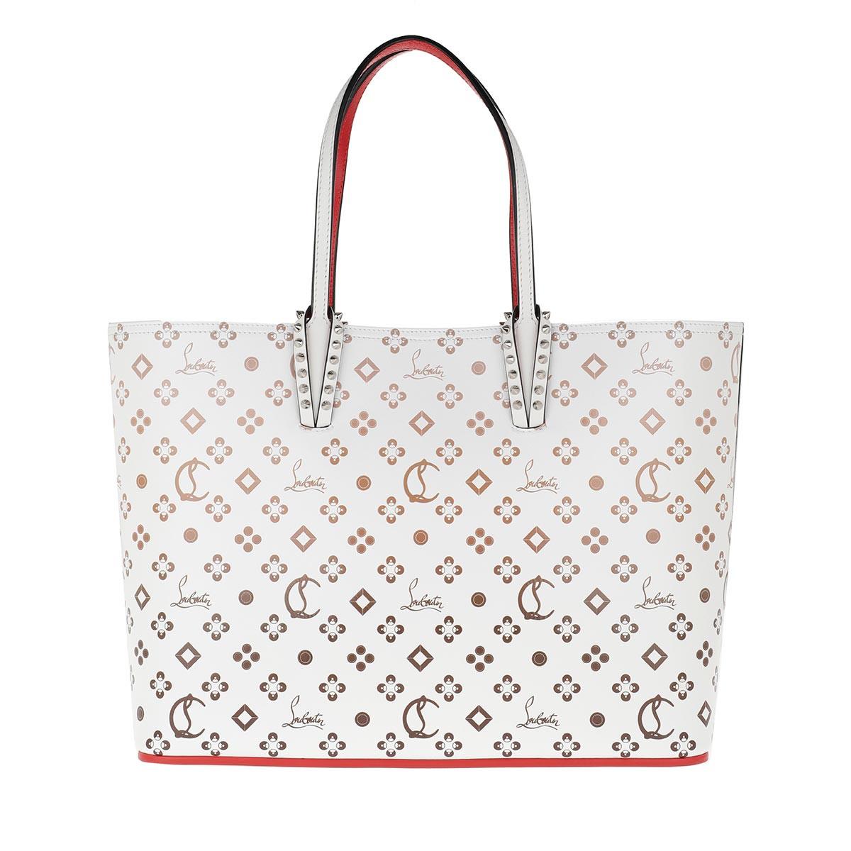 Christian Louboutin Shopper - Cabata Tote Bag Calf Leather White - in weiß - für Damen