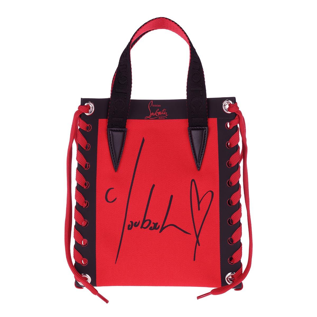 Christian Louboutin Tote - Cabalace Mini Tote Bag Canvas Loubi/Black - in rot - für Damen