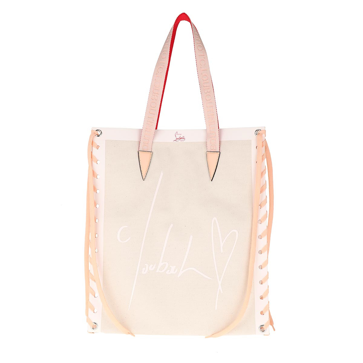 Christian Louboutin Tote - Small Cabalace Shopping Tote Bag Natural/Rose - in beige - für Damen