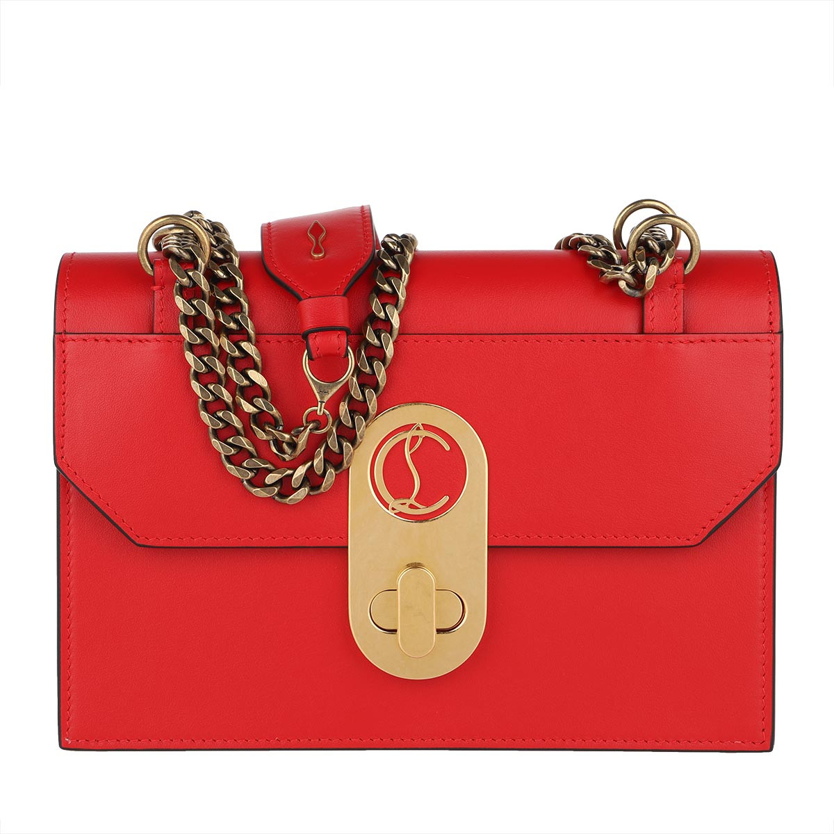 Christian Louboutin Umhängetasche - Elisa Crossbody Bag Leather Fume Loubi - in rot - für Damen