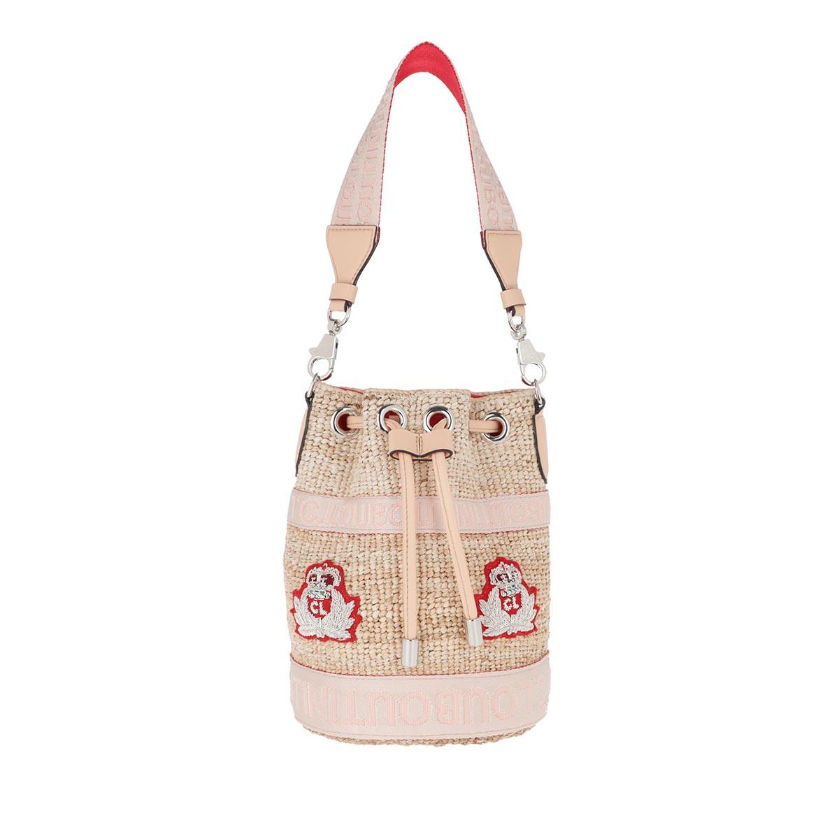 Christian Louboutin Umhängetasche - Mary Jane Bucket Bag Leather Natural/Rose - in beige - für Damen