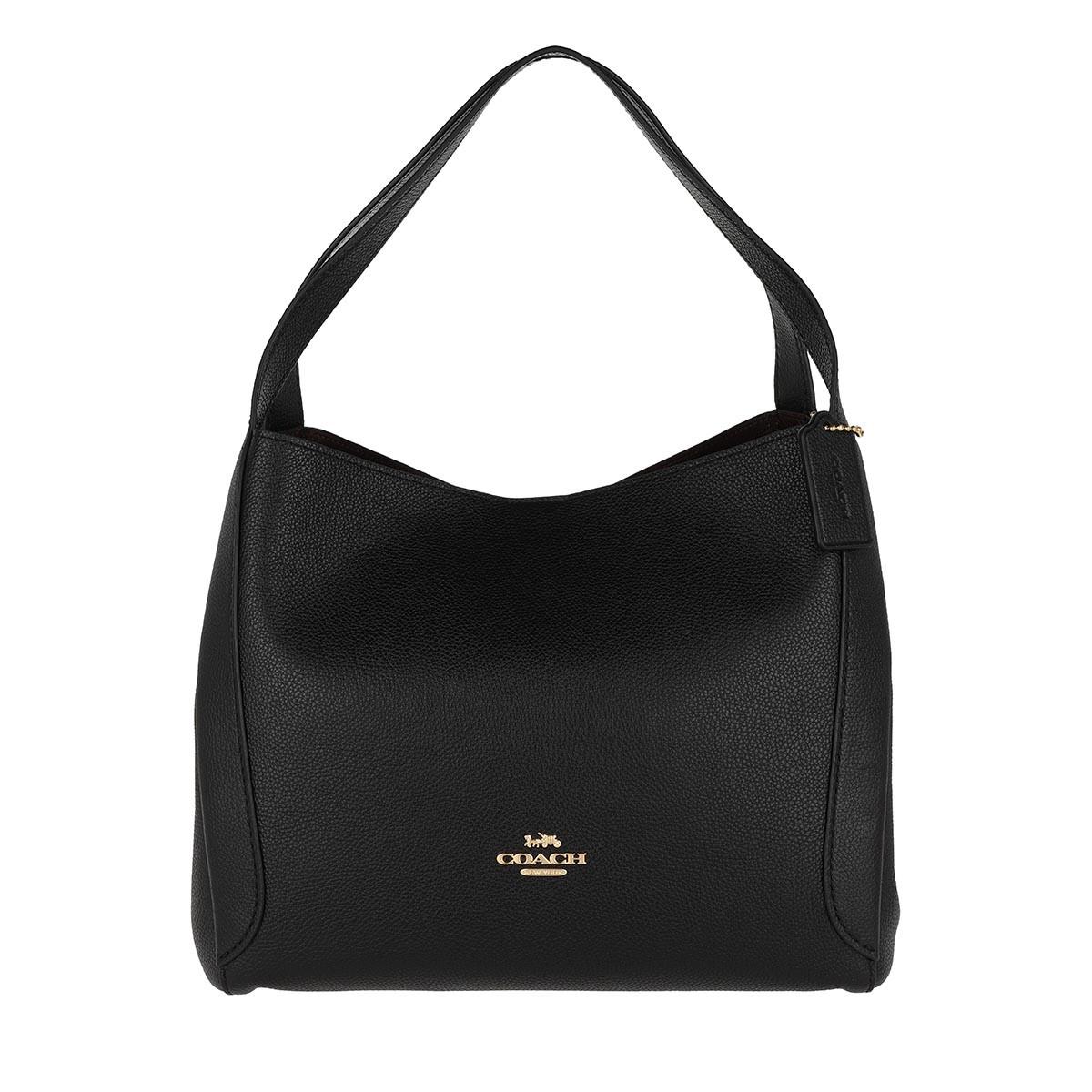 Coach Hobo Bag - Polished Pebble Leather Hadley Hobo Bag Black - in schwarz - für Damen