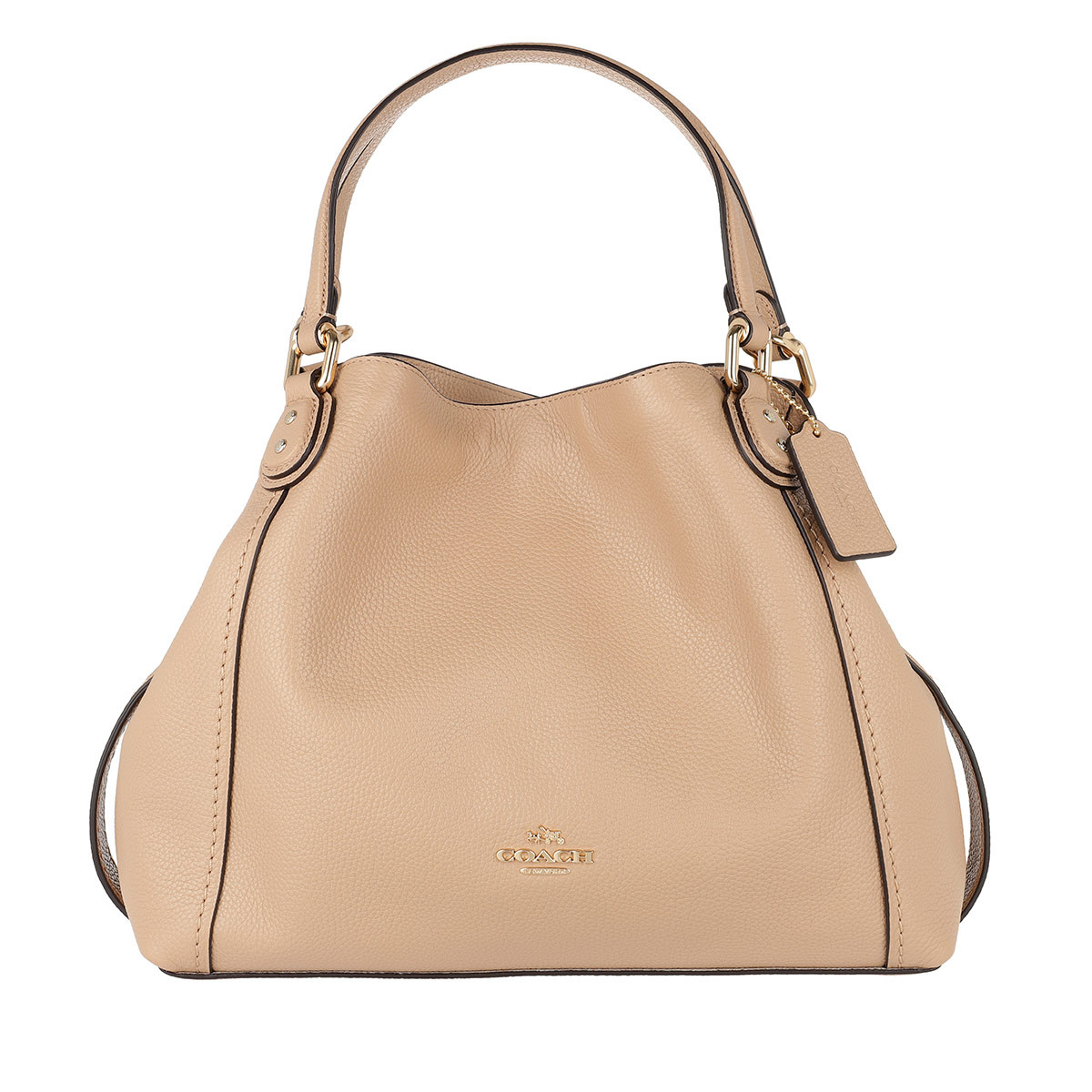 Coach Satchel Bag - Polished Leather Edie 28 Shoulder Bag Beechwood - in beige - für Damen