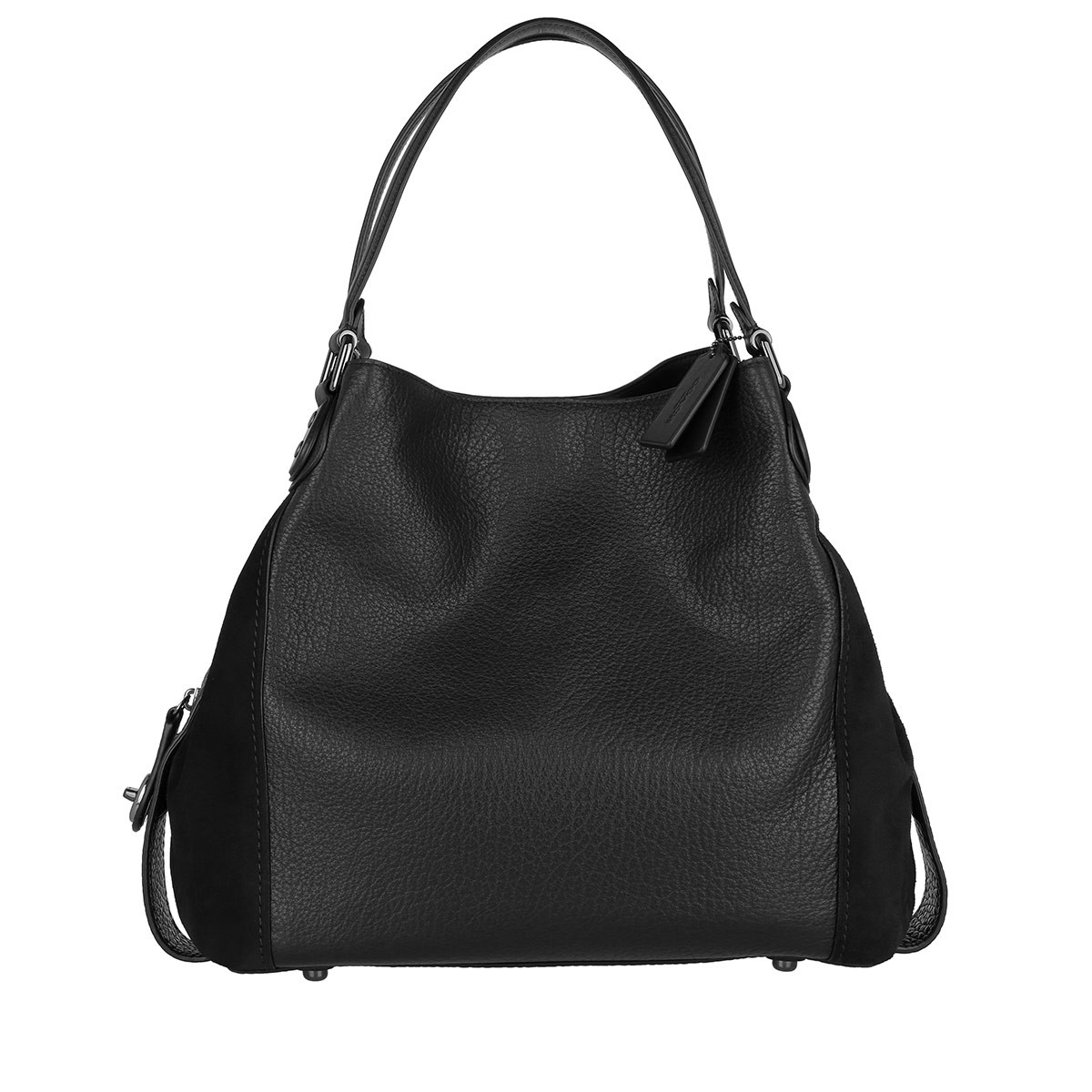 Coach Tote - Edie Shoulder Bag Mixed Leather Black - in schwarz - für Damen