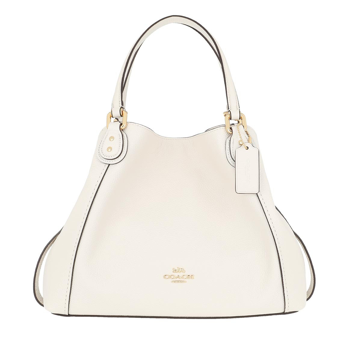 Coach Tote - Pebble Edie Shopping Bag Chalk - in weiß - für Damen