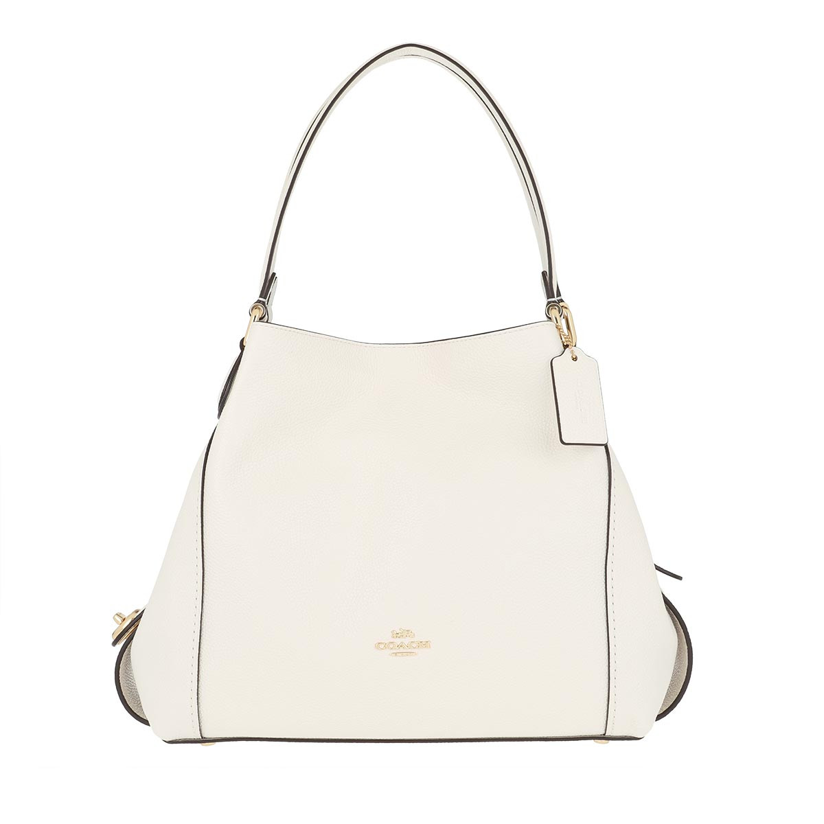Coach Tote - Pebble Edie Shoulder Bag Chalk - in weiß - für Damen