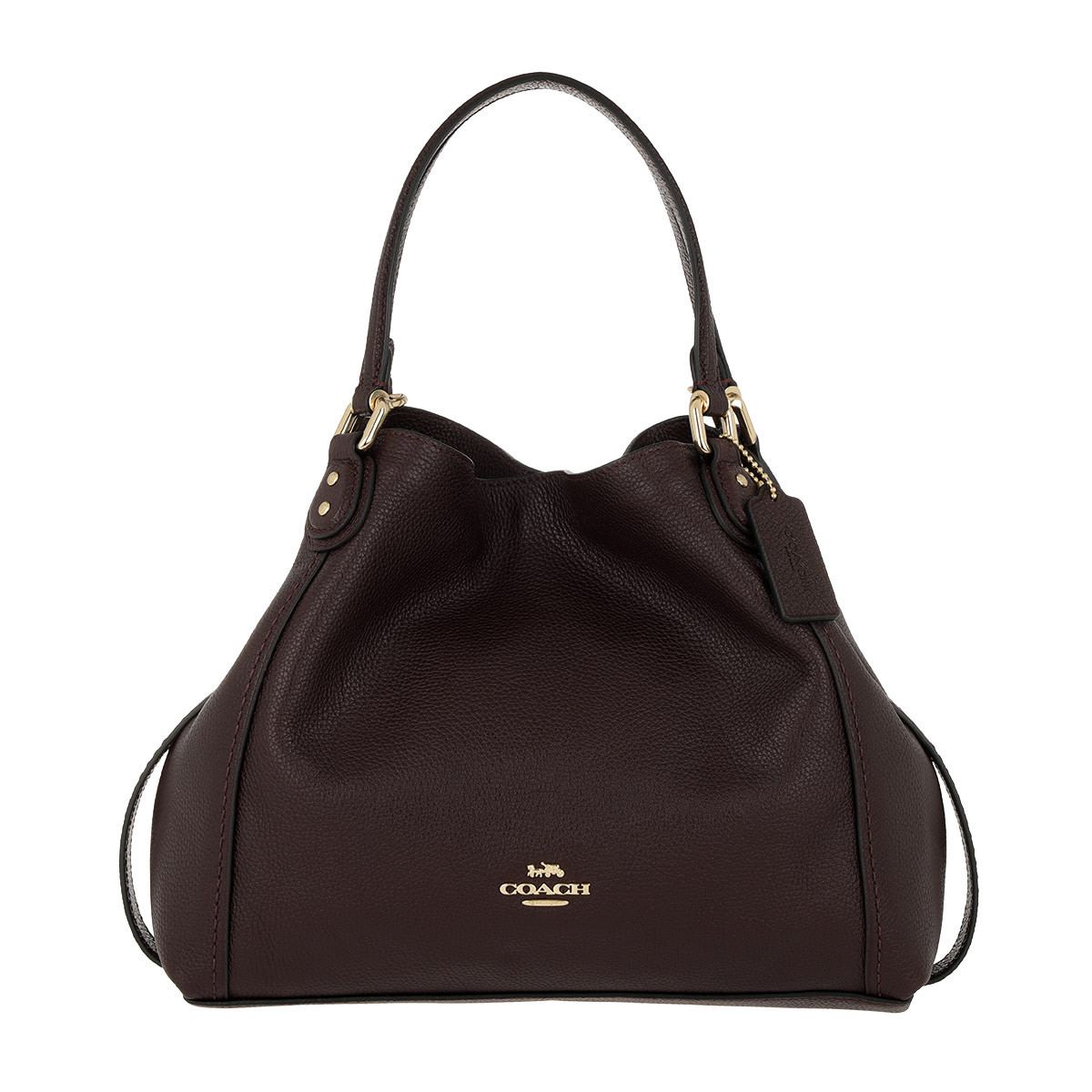Coach Tote - Polished Pebble Leather Edie 28 Shoulder Bag Oxblood - in lila - für Damen