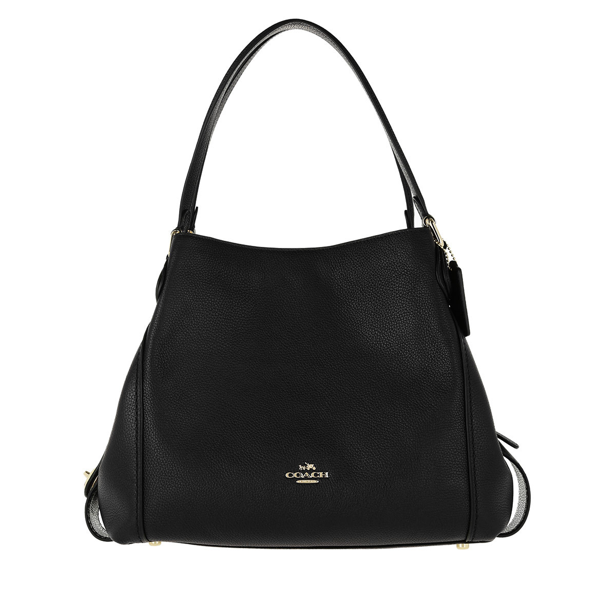 Coach Tote - Polished Pebble Leather Edie 31 Shoulder Bag Black - in schwarz - für Damen
