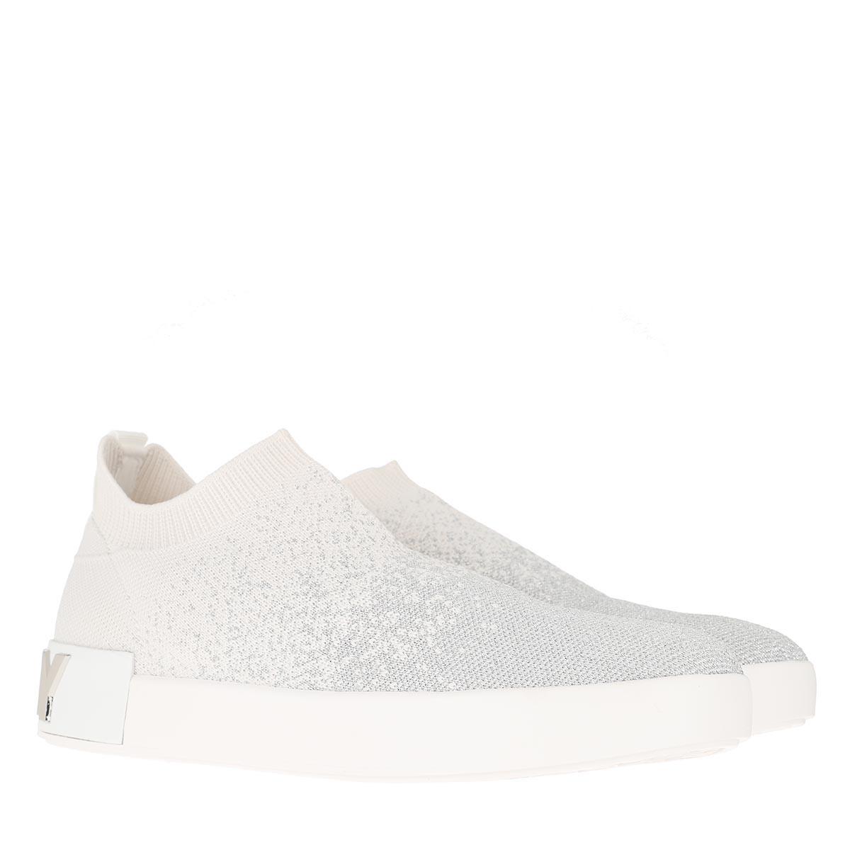 DKNY Sneakers - Sayda Sock Sneaker Silver/White - in silber - für Damen