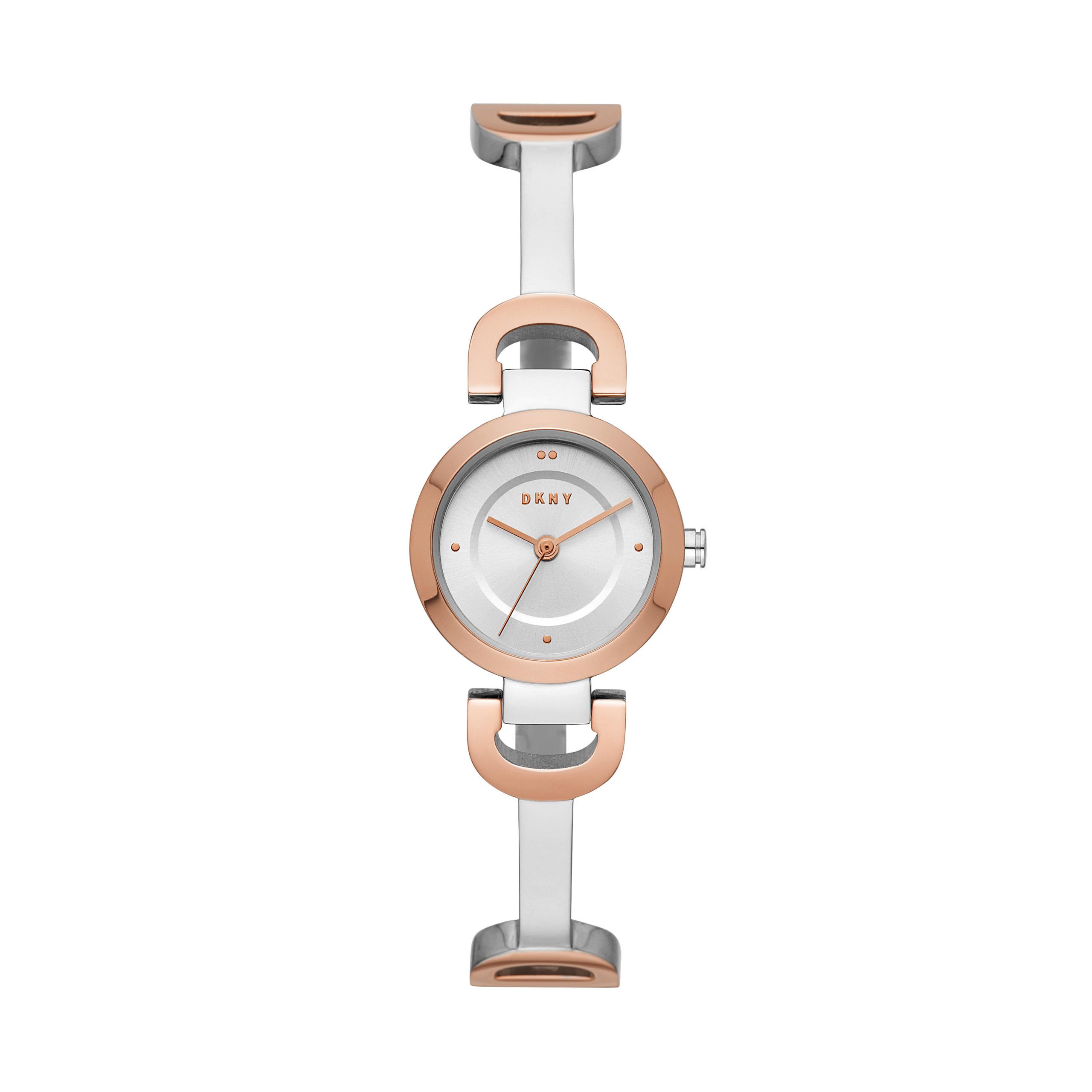 DKNY Uhr - City Link Watch Ladies Roségold/Silver - in rosa - für Damen