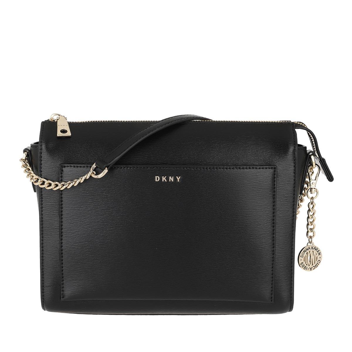 DKNY Umhängetasche - Bryant Medium Box Crossbody Bag Black/Gold - in schwarz - für Damen