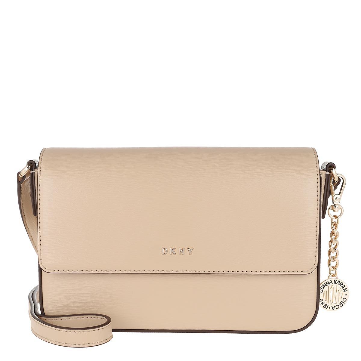 DKNY Umhängetasche - Bryant Medium Flap Crossbody Bag Sand - in beige - für Damen