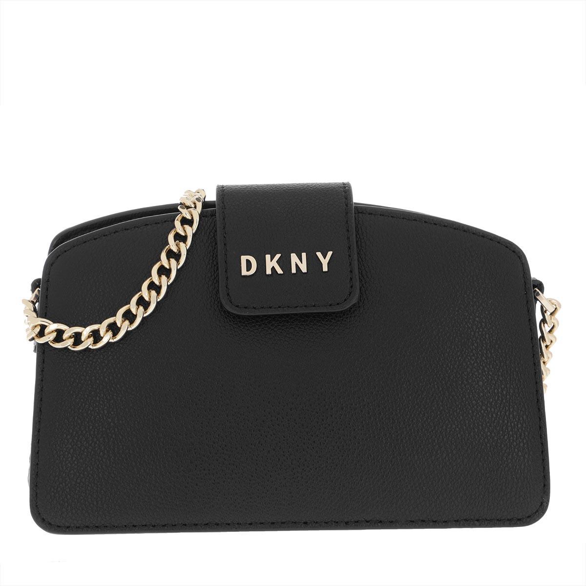 DKNY Umhängetasche - Clara Chain Crossbody Bag Black/Gold - in schwarz - für Damen