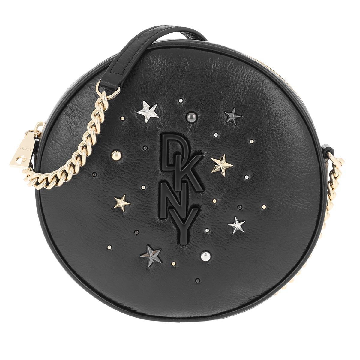 DKNY Umhängetasche - Krescent Canteen Crossbody Bag Black Gold - in schwarz - für Damen