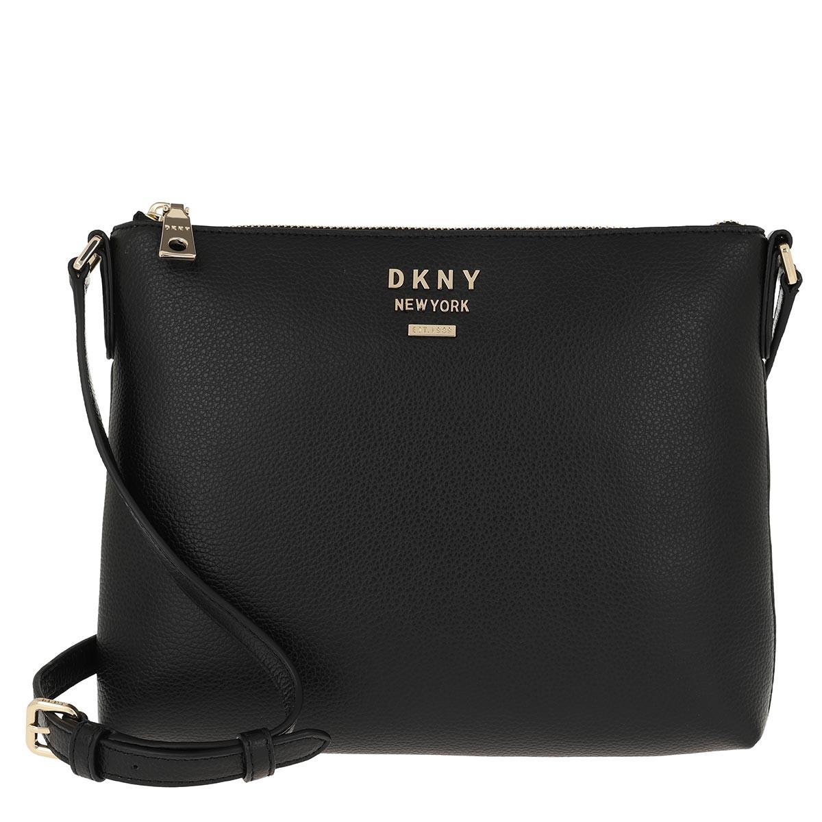 DKNY Umhängetasche - Whitney Flat Crossbody Black/Gold - in schwarz - für Damen