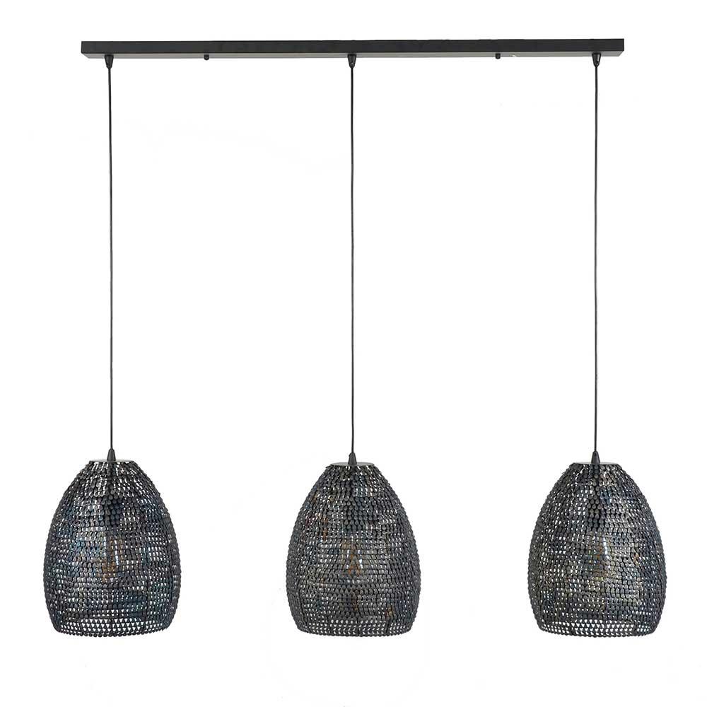Deckenlampe in Dunkelbraun und Schwarz modern