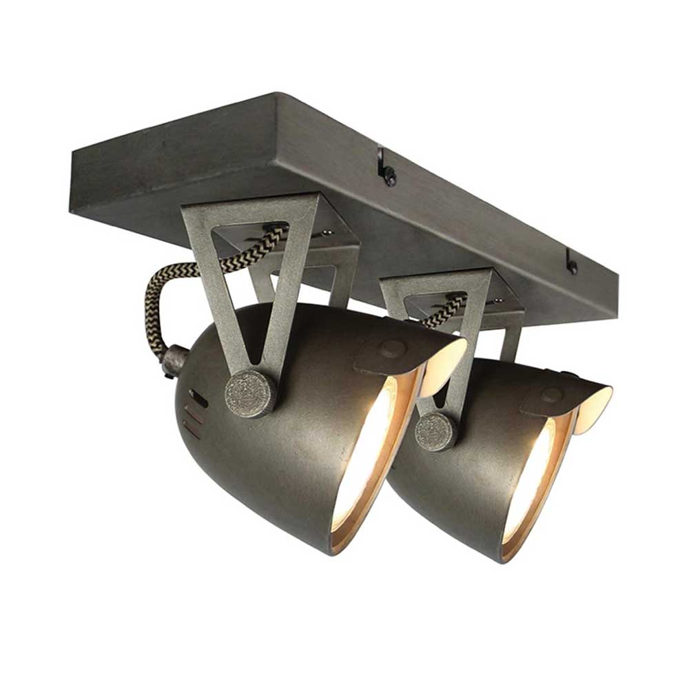 Deckenlampe in Grau Metall
