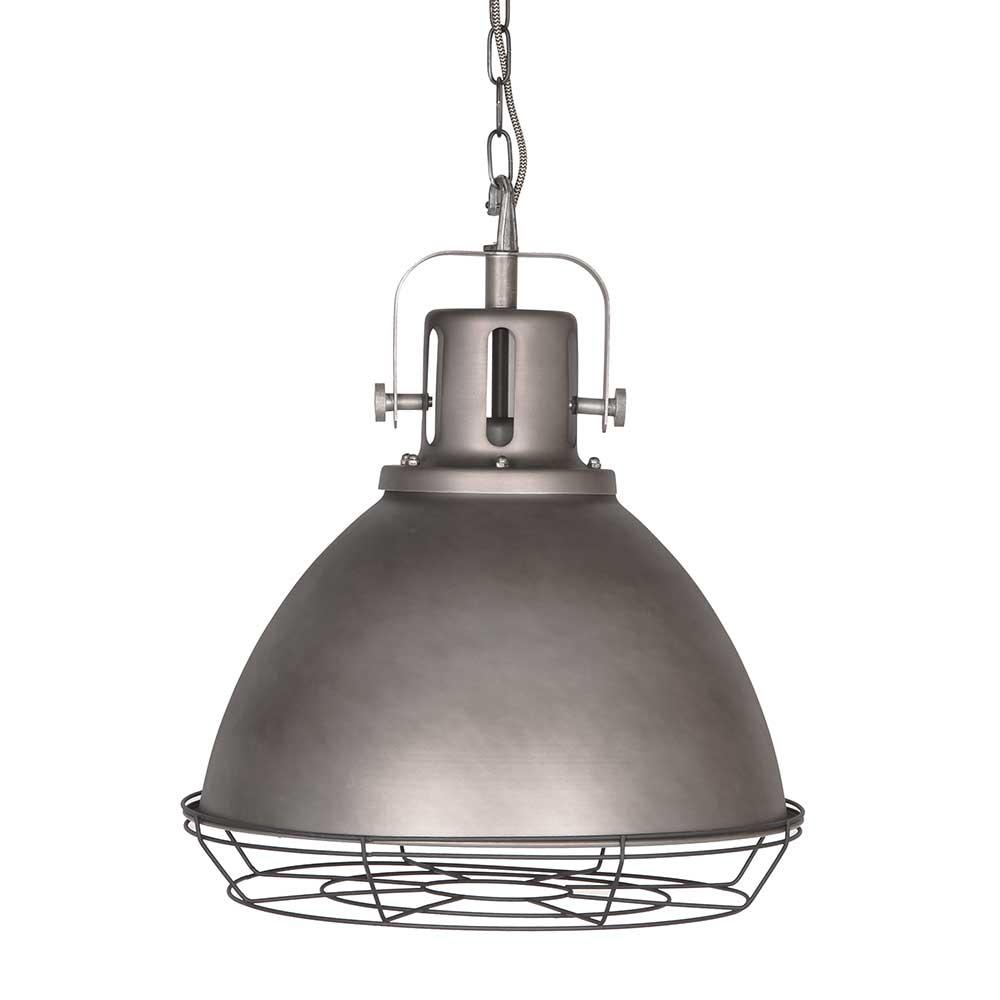 Deckenlampe in Grau Stahl