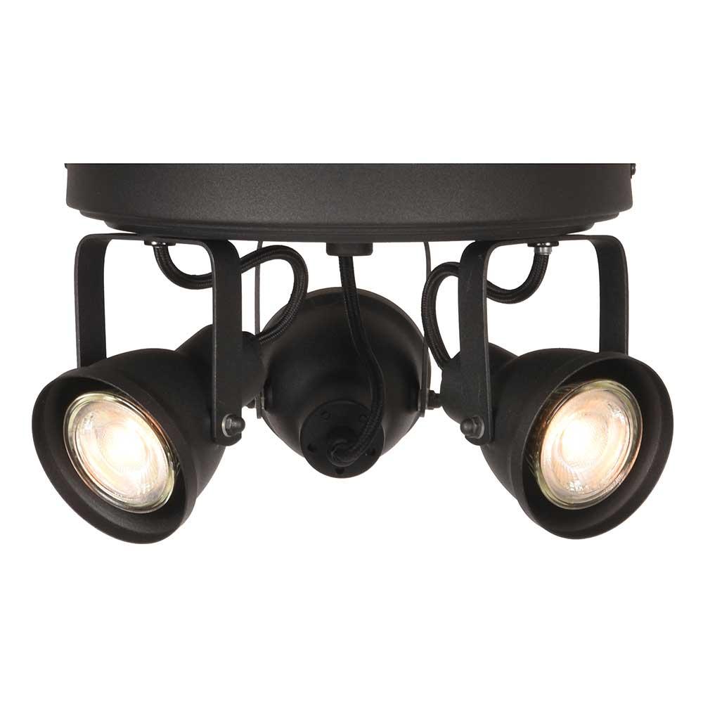 Deckenlampe in Schwarz 3-flammig
