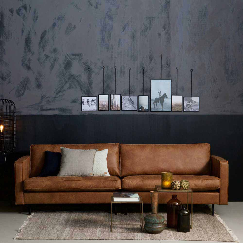 Design Couch in Cognac Braun Recycling Leder