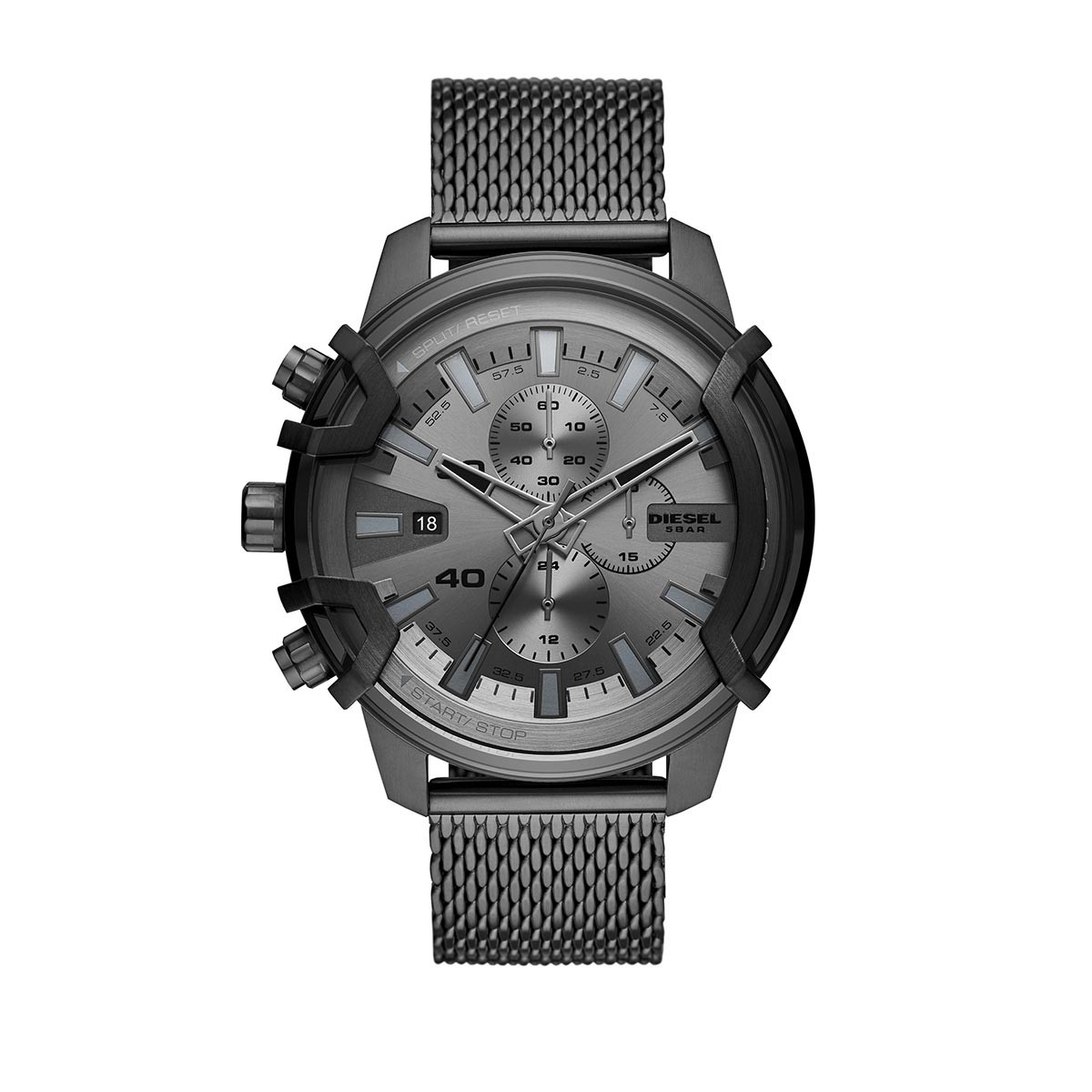Diesel Uhr - Griffed Watch Advanced Gunmetal - in gunmetal - für Damen