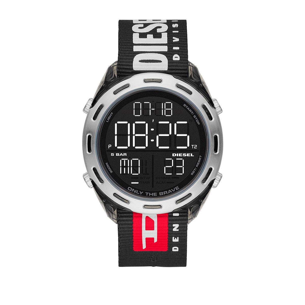 Diesel Uhr - Watch Crusher Smoke - in schwarz - für Damen